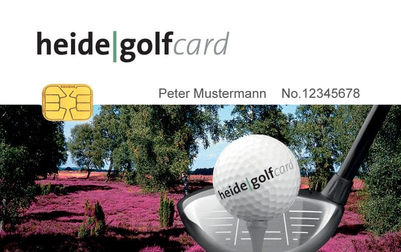 Karte Lüneburger Heide Und Umgebung.Heide Golf Card Karte Greenfeemitgliedschaft