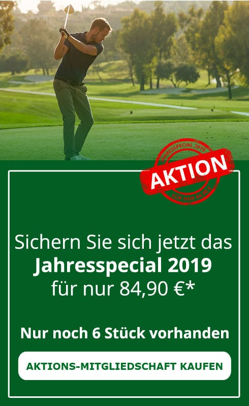 Golfmitgliedschaft 2018 mit DGV Ausweis