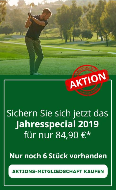 Golf Fernmitgliedschaft 2018 mit offiziellem DGV-Ausweis