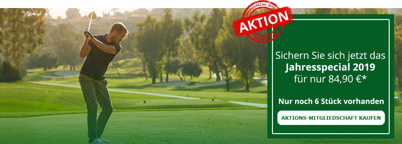 Golf Fernmitgliedschaft 2018 mit DGV-Ausweis